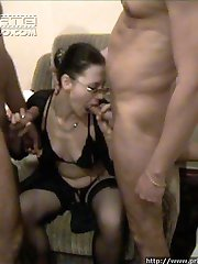 Hot mom gets double penetrated