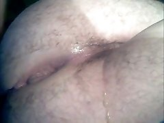 Her chubby ass jumps eagerly on guy's cock and keep it tight till he loads her butt with sperm.