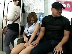 Ruri Saijo Asian falls asleep and has big PublicSexJapan.com