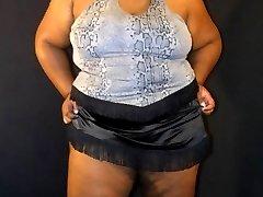 Busty black amateur BBW with a fat ass