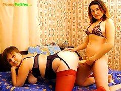 Two nasty fat tarts get the taste of BDSM fucking