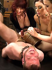 What if you were used as nothing more than a cock and balls to mercifully milk to the final and last drop day after day after day after day? That is exactly what Jesse Carl is to three of the sexiest femdoms in history! Maitresse Madeline, Mistress Gia Dimarco and Mistress Chanel Preston keep Jesse locked away in a dark pit and bring him out once a day until he fills their rusty bucket with cum. Sure, this sounds like every mans dream come true but these femdoms are brutal, wicked and so sexy that it turns into torture and he can't be milked anymore! They use the 100 mile an hour flesh light fucksall and Jesse looses his load inside. Whatever!!!! They just milk him more! Lots of ass and pussy worship, strap-on anal and a prostate milking that results in multiple orgasms straight from the male g-spot then right back in his locked pit he goes.......... until tomorrow!