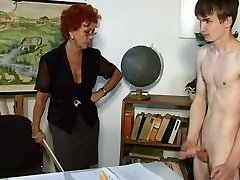 Lacey Lawless houseboy seems too comfortable in her house. Hes walking around naked, smelling...