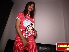 Watch dick craving ladyboy get raw filled