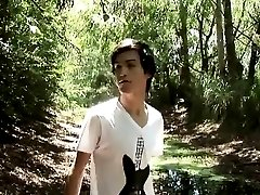 Hot twink adventures in the woods