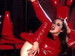 Latex slut in red