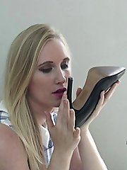 Toni speaks personally to your shoe fetish, wearing her high heels as usual she talks about your...