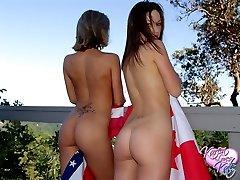 Kate Karen are patriotic