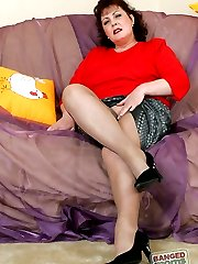 This naughty milf has got three holes and she makes good use of all of them - she doesnt...