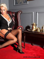 Hot blonde Leggy Lana comes back from a blind date and gets all horny with her fingers on a...
