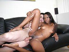 Black girl loves cum inside her cunt.