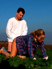 These horny teens just couldn\'t control their lusty any longer. Even thought they were in the middle of an empty field, they were soon releasing the pressure building up inside of each other.