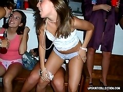 Boozed girls always agree to expose their hot panties