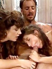 Bionca, Nikki Dial, Steve Drake in 80s porn girls finger each others shaved pussies