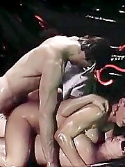 Hardcore double penetration from vintage porn