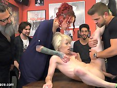 Nora The Naughty Bitch - Part 1Nora Barcelona is a sweet, petite Spanish beauty, eager to be put in her slutty place. Silvia Rubi marches her out into the rain and puts her in handcuffs where Nora's made to perform like a dog. She plays fetch, begs for food from strangers, and ultimately endures a humiliating public spanking and flogging.Naughty Bitch Gets Her Bone - Part 2Nora Barcelona is brought to a dive bar, fresh from being humiliated by Silvia Rubi in a rainy public square. Finally, the bone Nora's been begging for is given to her, but not before she works for it. Nora is spanked, shocked and paddled in front of a rowdy crowd until her ass is beet-red and white-hot, then she's handed over to a bar patron to be fucked in front of everyone, fisted in her hungry pussy by Silvia, and finally filled with two cocks and doused with hot cum. Once Nora's been utterly used, she's led outside wearing nothing but shoes, and taken for a walk, naked through the city streets.
