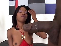 Black teen wild suck big black cock and gets cunt bang