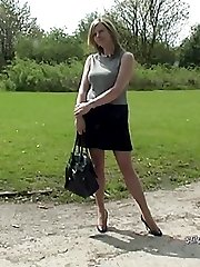 Sexy Louise loves to give pleasure to shoe fetishists by wearing lovely heels and seamed...