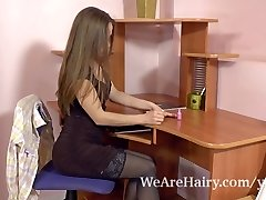 Smashing lesbian gal goes for a rimjob while toying her girls soaking muff
