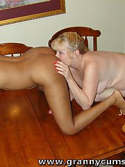 Granny eats some SWEET BLACK PUSSY and ASS