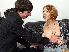 Hot MILF fucking and sucking her toyboy