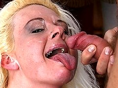 Big titted blonde mature slut fucking