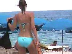 Juicy Booty Blue Bikini Miami Beach