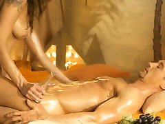 Blonde Massage Therapist Gives Handjob