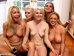 Watch Part 1!!  The wait for part two of the racy step mother and daughter lesbian drama is over. In part 1 we find Ella and Darling captured and fucked by two sadistic lesbians. The story continues to unfold when the truth about Ella\'s mom comes out and the sadistic lesbian make Ella punish and fist fuck her mother! Ella breaks away for just enough time to call on one of her mother\'s friends, Simone Sonay who naively arrives at the situation and is quickly turned out by the evil cunts! Simone is spanked, humiliated and double strap-on fucked in from of her best friend and her best friend\'s daughter. The mother\'s are ass fucked deep and the daughter is made to lick the cocks clean of all the ass juice. Once the lesbians are through with them they kick them out made, to fend for themselves in the city naked and fucked!