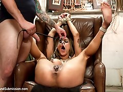 Nadia Styles returns to Sex and Submission with Tommy Pistol in this kinky role play with rough sex and bondage.