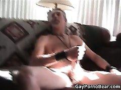 Sexy homo bear sucks rigid gay dick part4