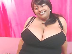 Busty ebony picture video