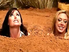 2 Nude Busty Women in Quicksand