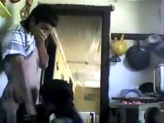 Indian Cousins fucking in Kitchen and moaning loudly