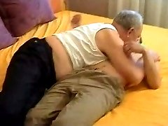 Grandpa seduces young sweet boy