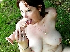 This naughty mama loves to suck cock