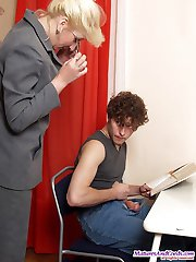 Tutor gets her clit stuffed with pupil's rod