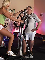Local gym trainer fucking