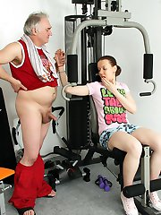 Hottie working out shagged