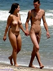Nude nudists on beaches in pairs