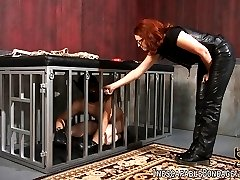 Rope bondage artist Nikki Nefarious spends some quality time with puppy Deviant Kade. She ties...