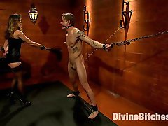 Mistress Felony, Divine Bitches resident hellrasier devours Trent Diesel with her sexy black...