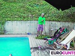 Euro cunts get big dick service