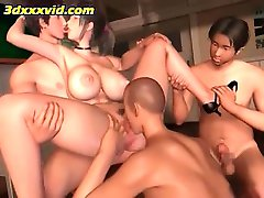 3d japanese teacher fucked by 3 guys