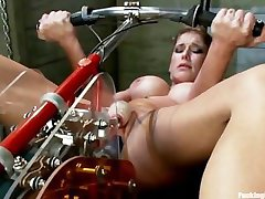 Felony has a really big & intense orgasm with Fucking Machine