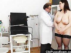 Big-breasted madam ob gyn exploration
