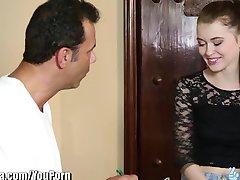 TrickySpa sly masseur thrusts Cock into Polish Slut's mouth