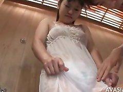 Horny guy seduces asian teen girl and teaches how to fuck