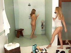 Sensual Lesbian Shower Seduction