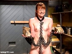 Slave girl Claire Robbins fucks and sucks like a pro in this final installment of her training...